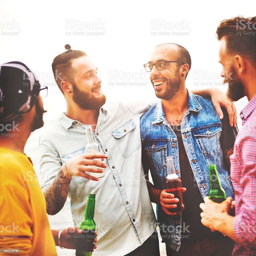 Celebration Cheers Hipster Drinking Together Friends Concept stock photo