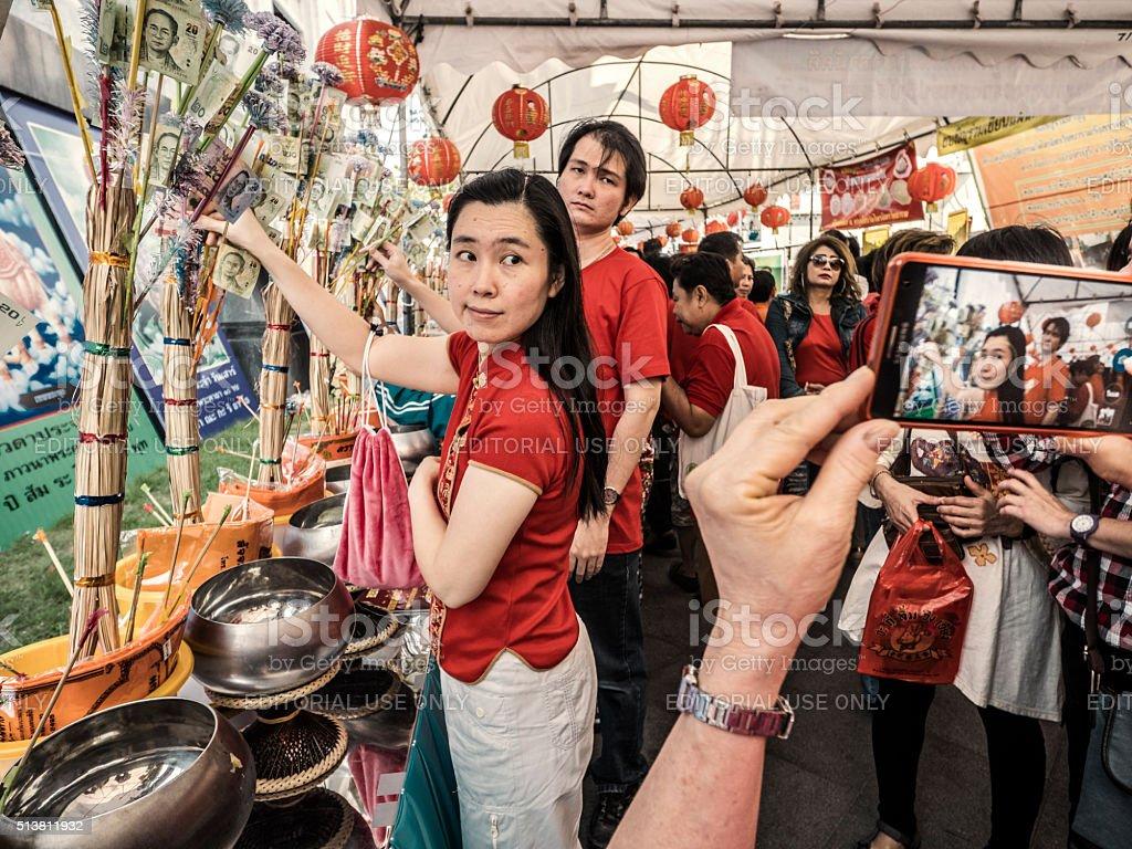 Celebration Chinese New Year Chinatown Bangkok Thailand stock photo