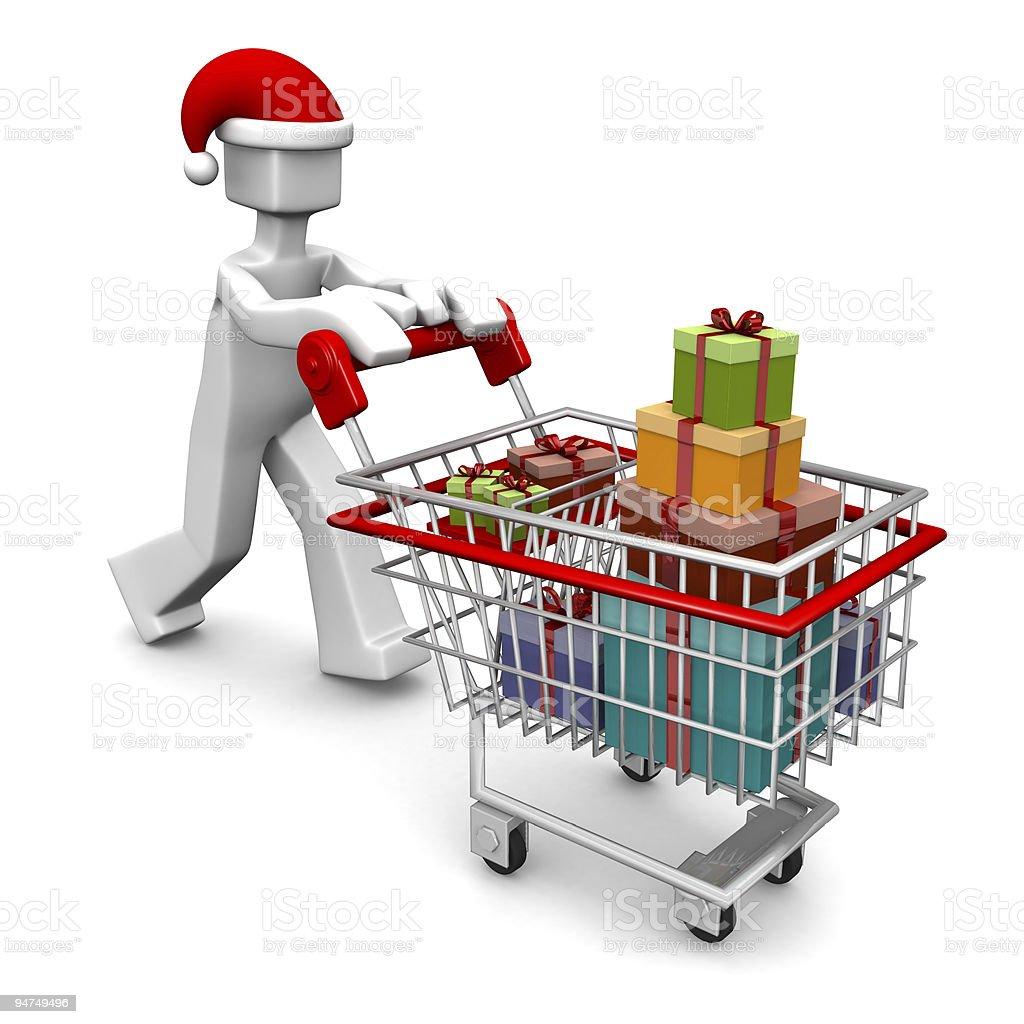 Celebration christmas or buying gift shopping concept royalty-free stock photo