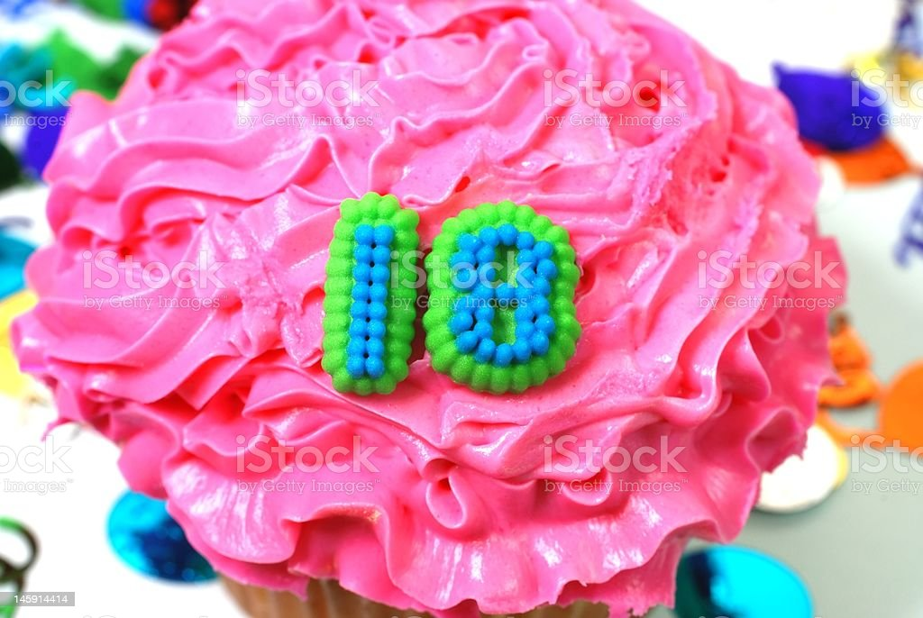 Celebration Cupcake - Number 18 royalty-free stock photo
