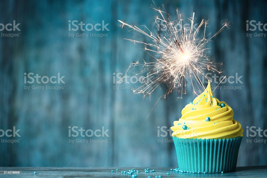 Celebration cupcake stock photo