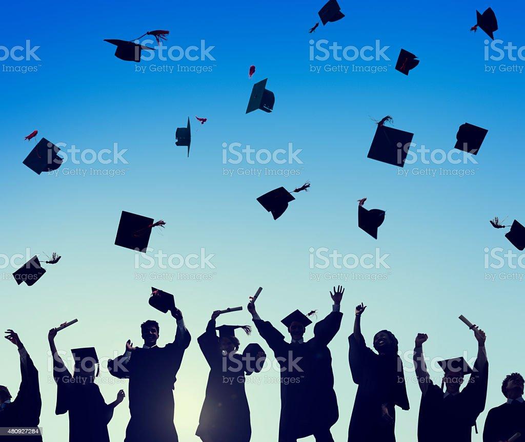 Celebration Education Graduation Student Success Learning Concep stock photo