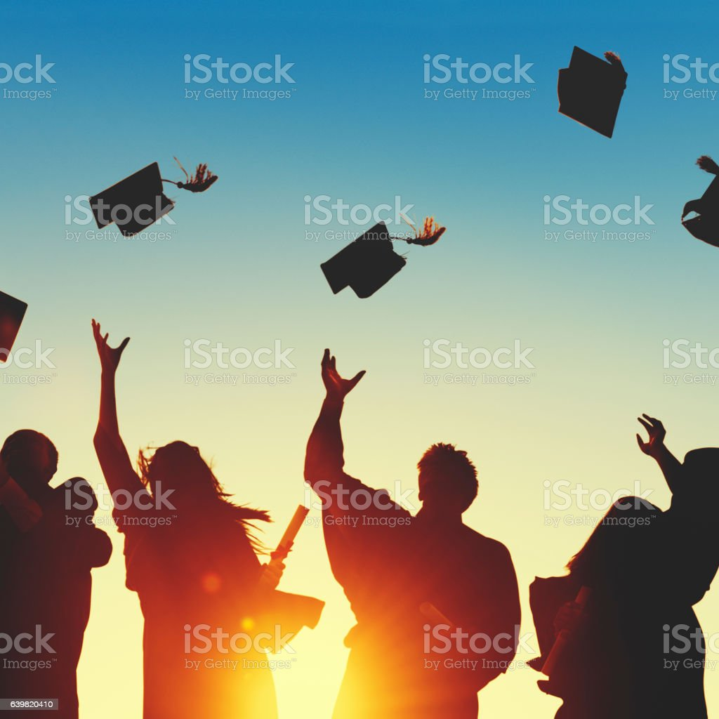 Celebration Education Graduation Student Success Learning Concep stock photo