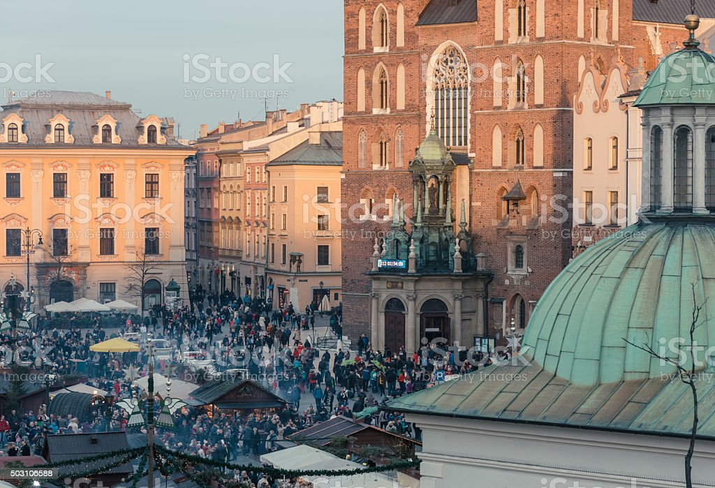 Celebration event in Krakow stock photo