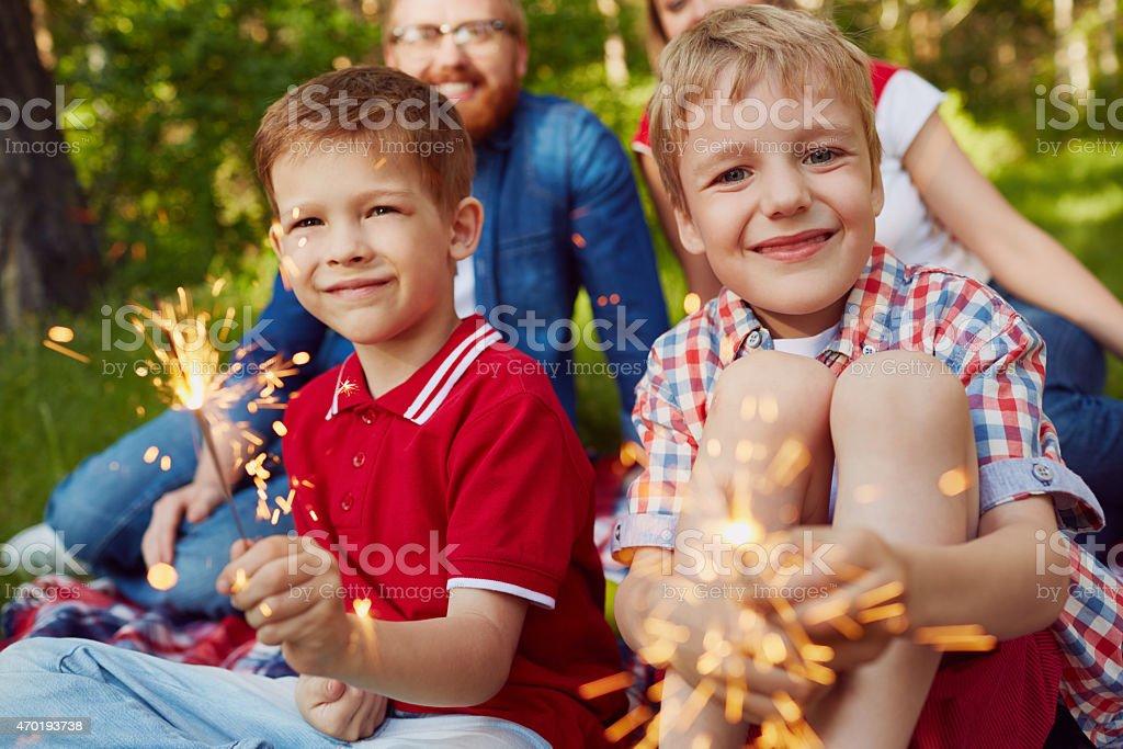Celebration for family stock photo