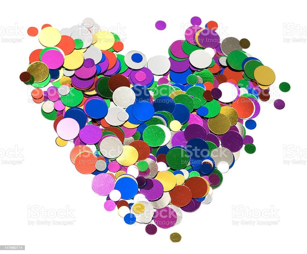 Comemoração coração sobre fundo branco foto de stock royalty-free