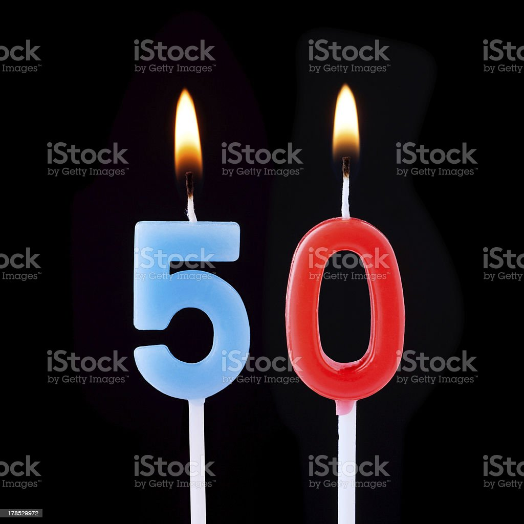 Celebration Number fifty stock photo