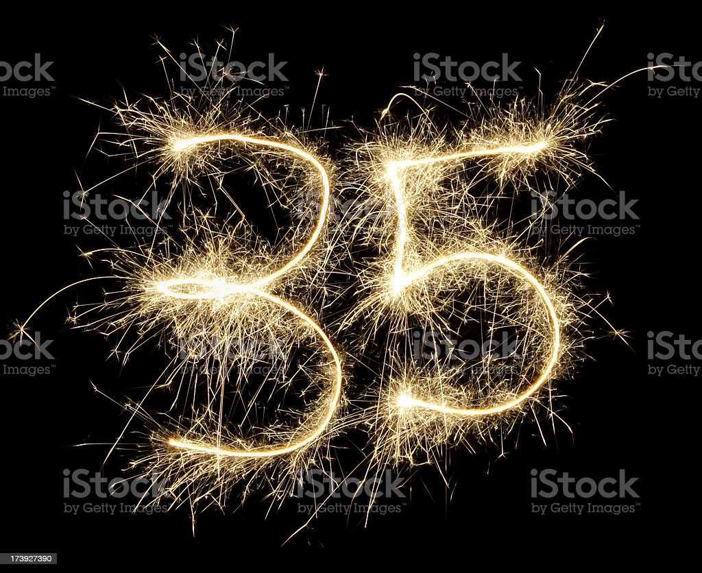 celebration numbers series stock photo