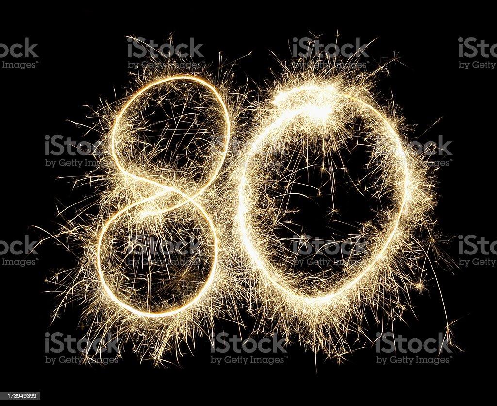 celebration numbers series stock photo