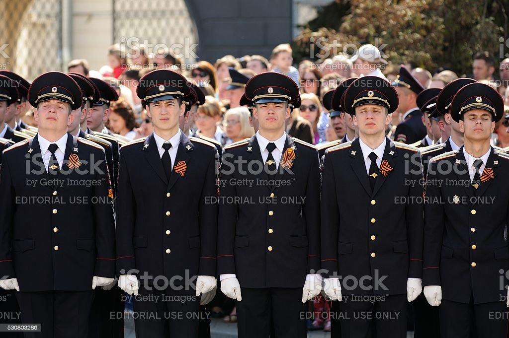 Celebration of 71th anniversary of the Victory Day (WWII) stock photo