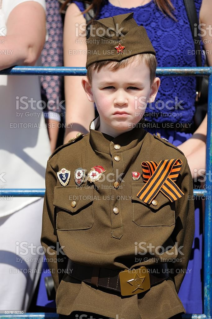 Celebration of 71th anniversary of the Victory Day (WWII). stock photo