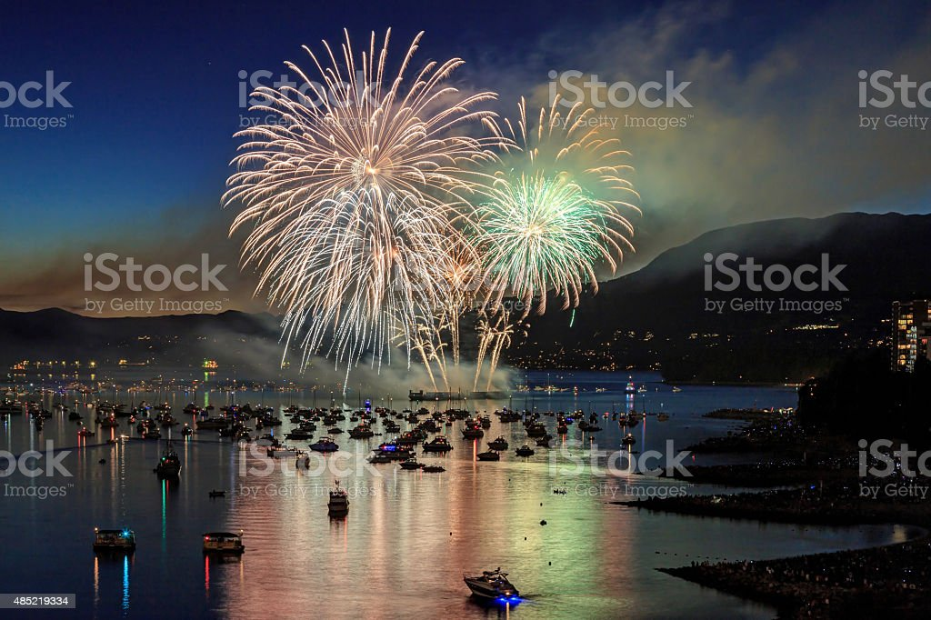 Celebration of Light - fireworks competition stock photo