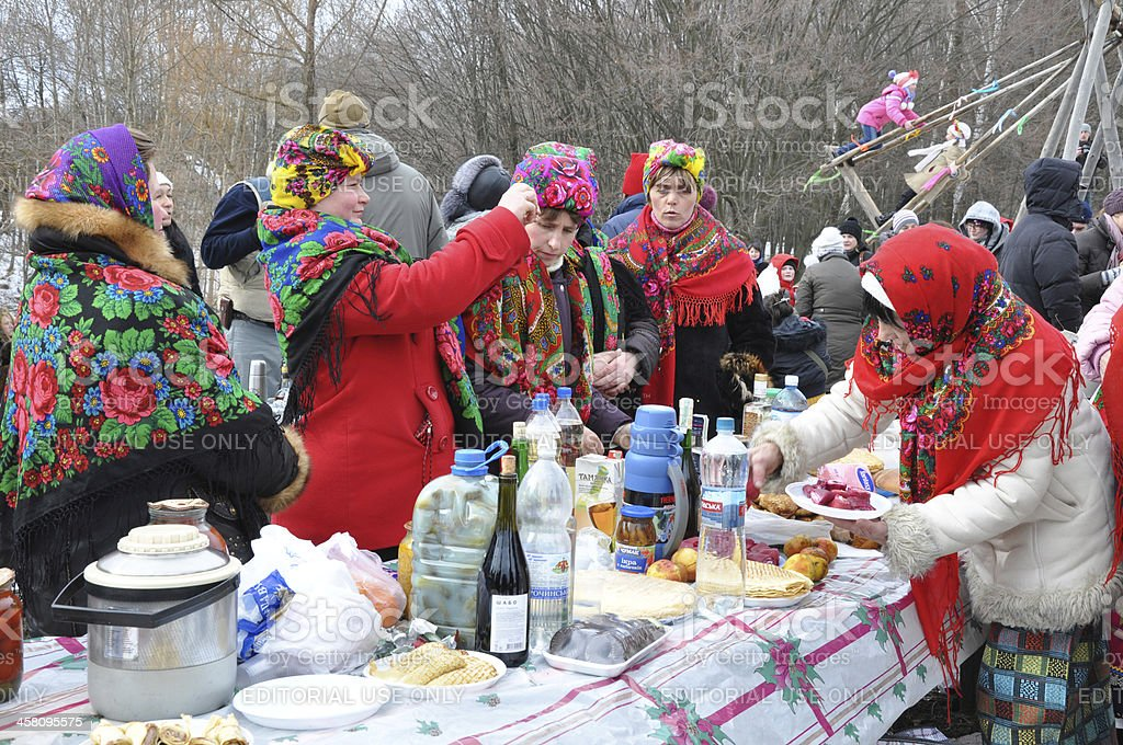 celebration of Maslenitsa royalty-free stock photo