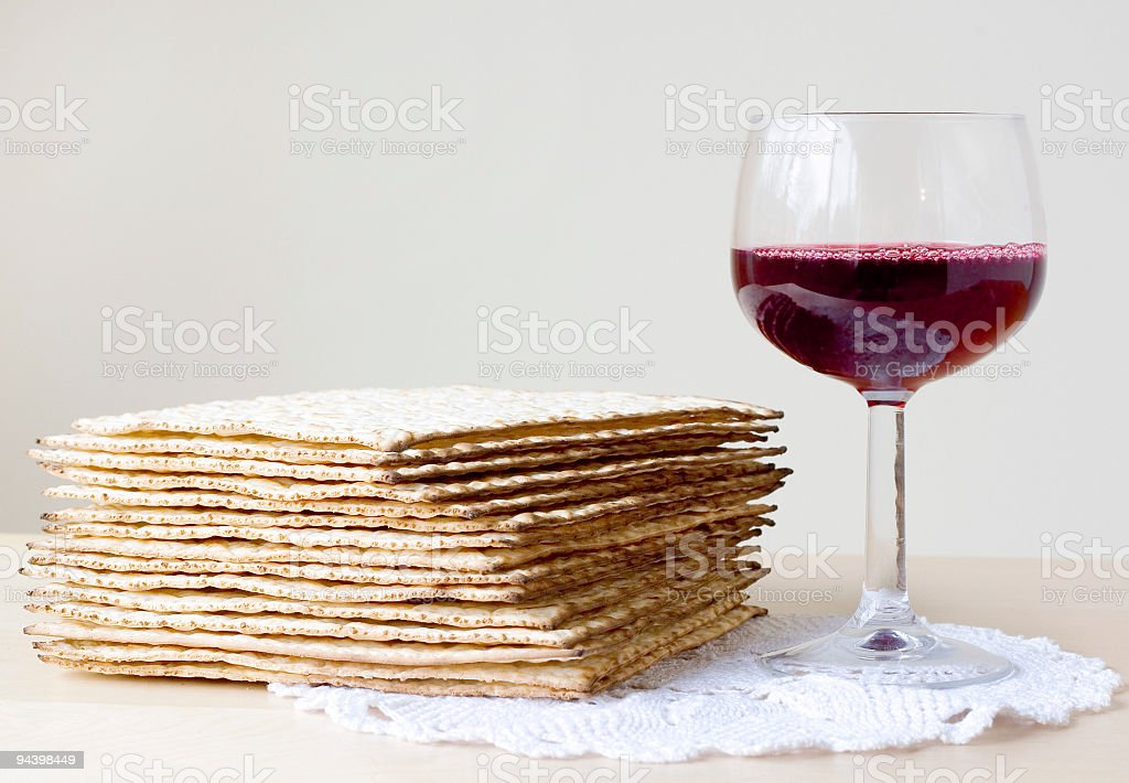 Celebration of Passover stock photo