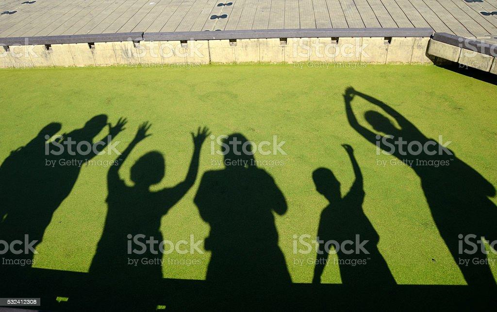 Celebration Shadows stock photo