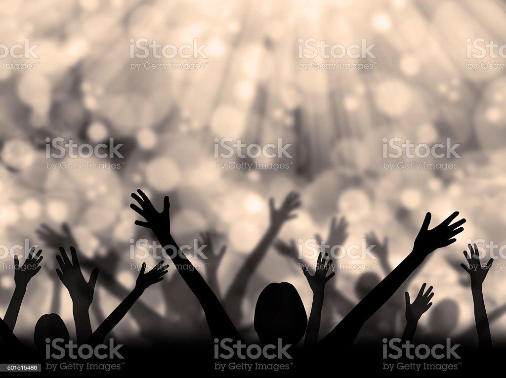 Celebration Silhouette stock photo