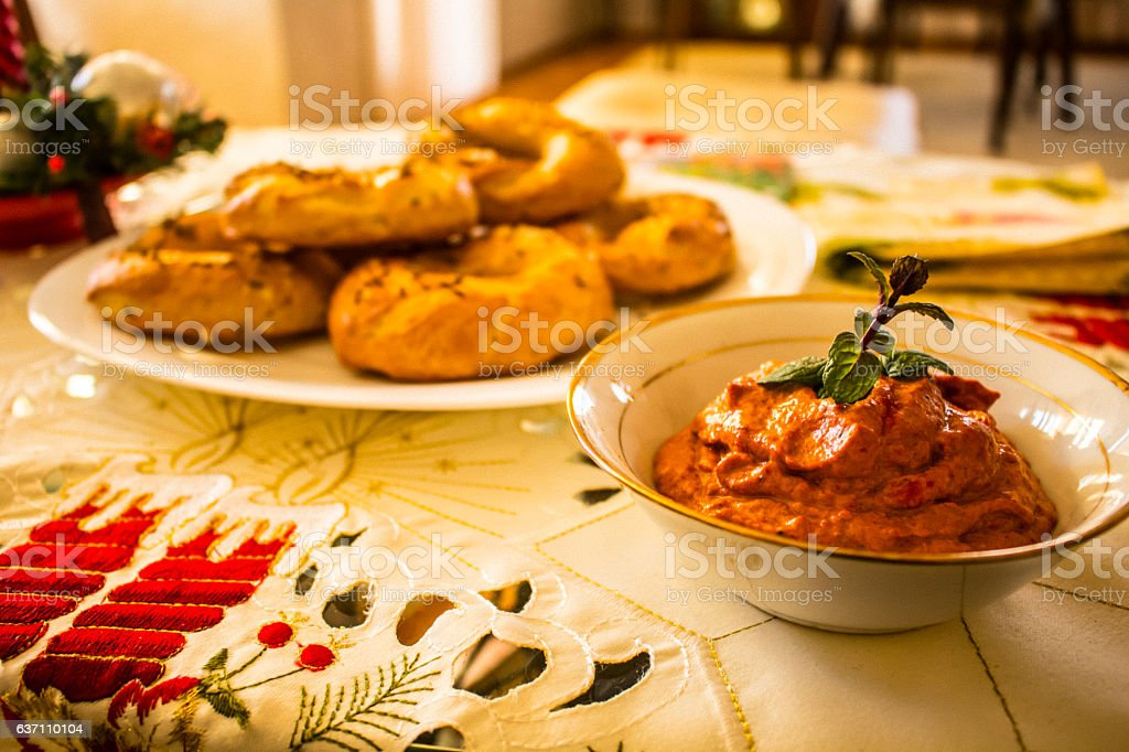 Celebration snack stock photo