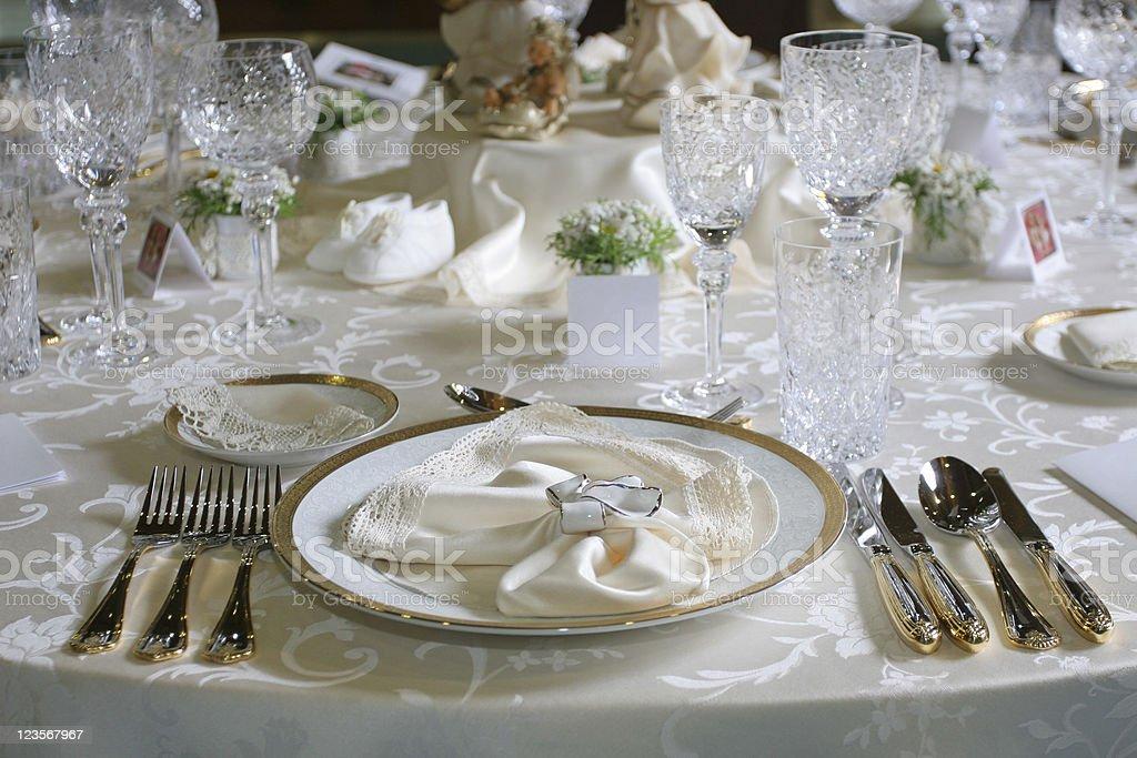 Celebration table setting royalty-free stock photo