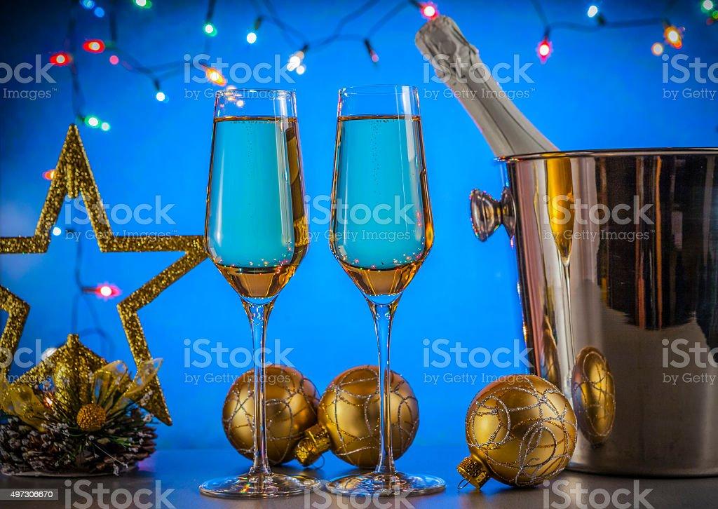Celebration theme. Champagne wine stock photo