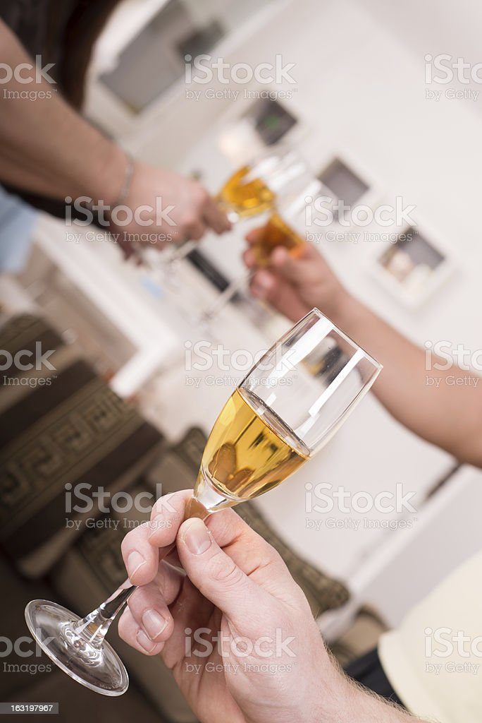 Celebration toast with champagne royalty-free stock photo