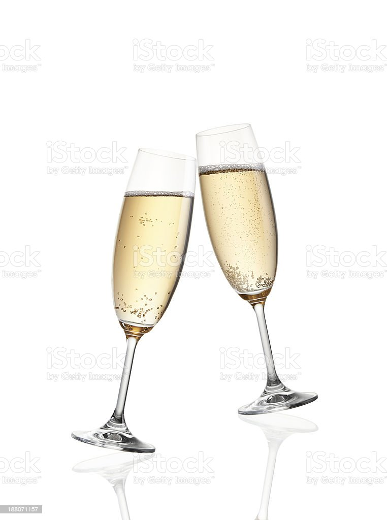Celebration toast with champagne stock photo