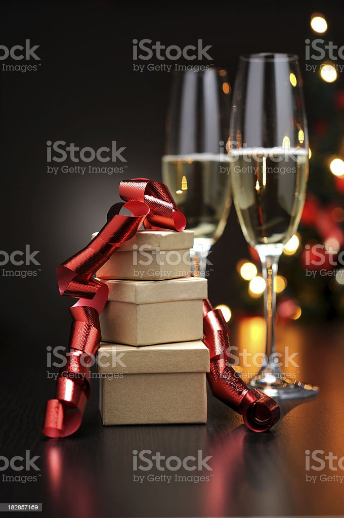 Celebration With Champagne royalty-free stock photo