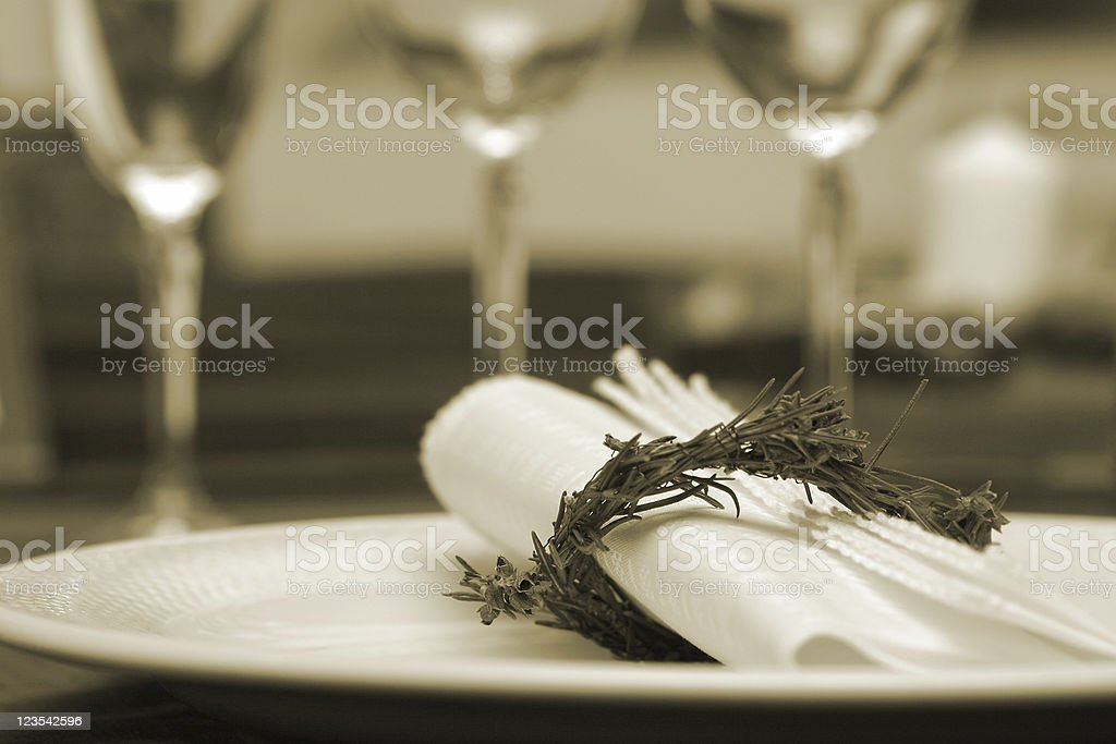 Celebrations - sepia royalty-free stock photo