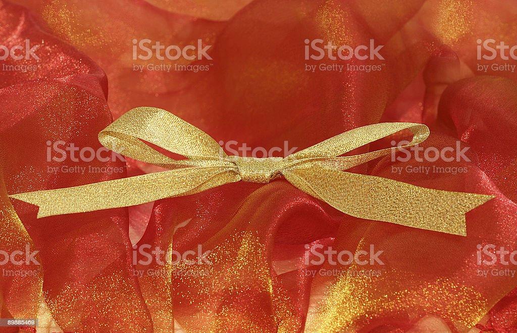 Celebratory and Christmas ribbon royalty-free stock photo