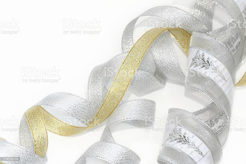 Celebratory / Christmas ribbon royalty-free stock photo