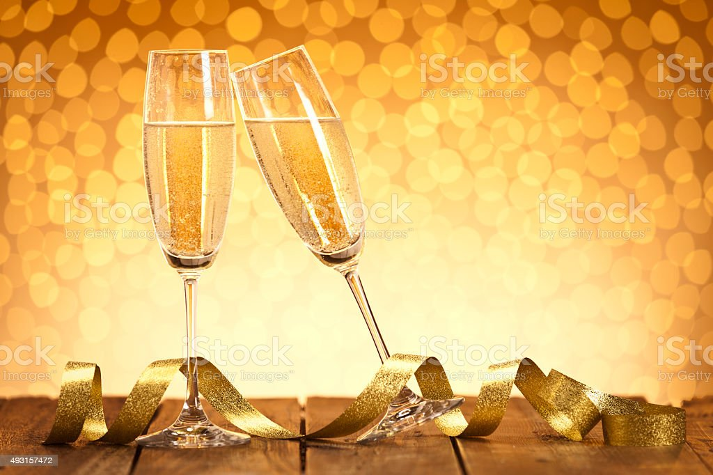 Celebratory toast stock photo