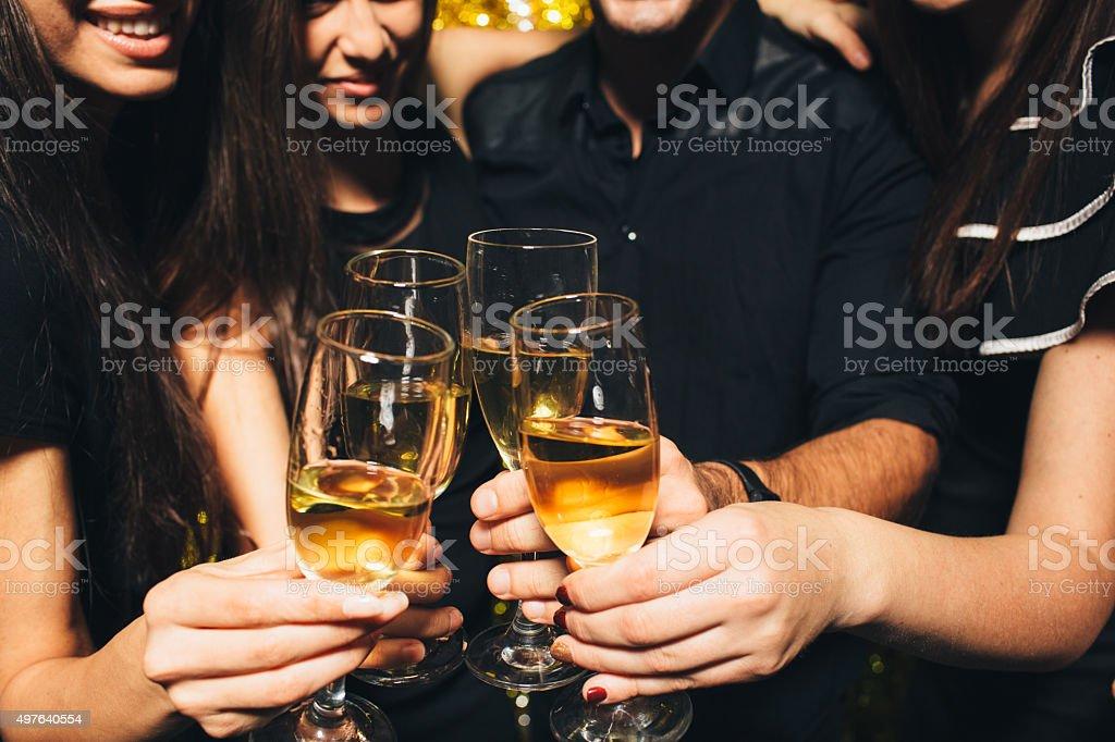 Celebratory Toast stock photo