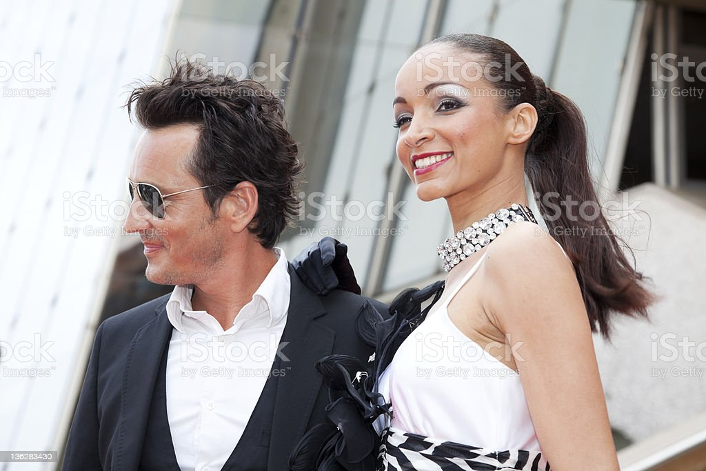 Celebrity Couple Smiling For Camera royalty-free stock photo