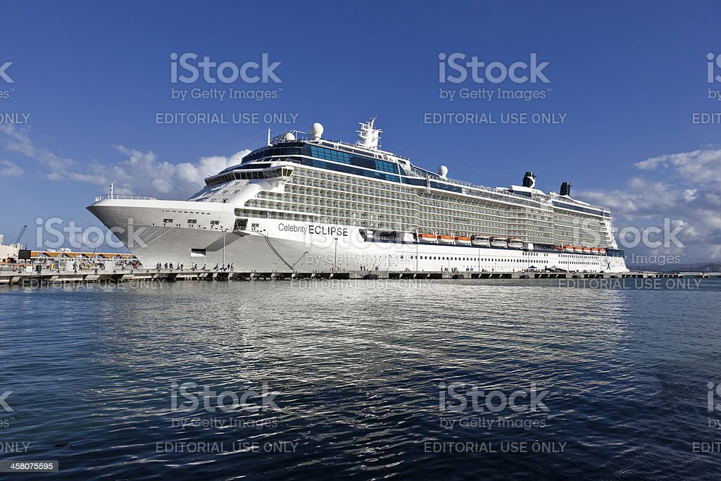Celebrity Eclipse Cruise Ship royalty-free stock photo
