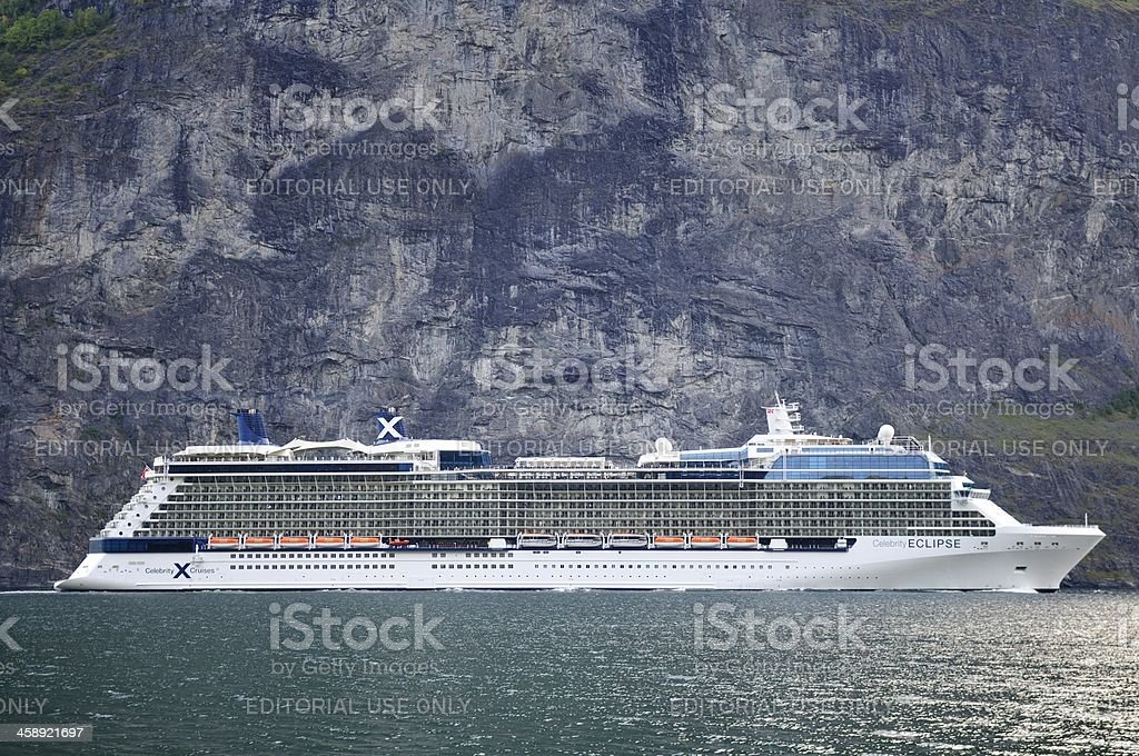 Celebrity Eclipse cruise ship royalty-free stock photo