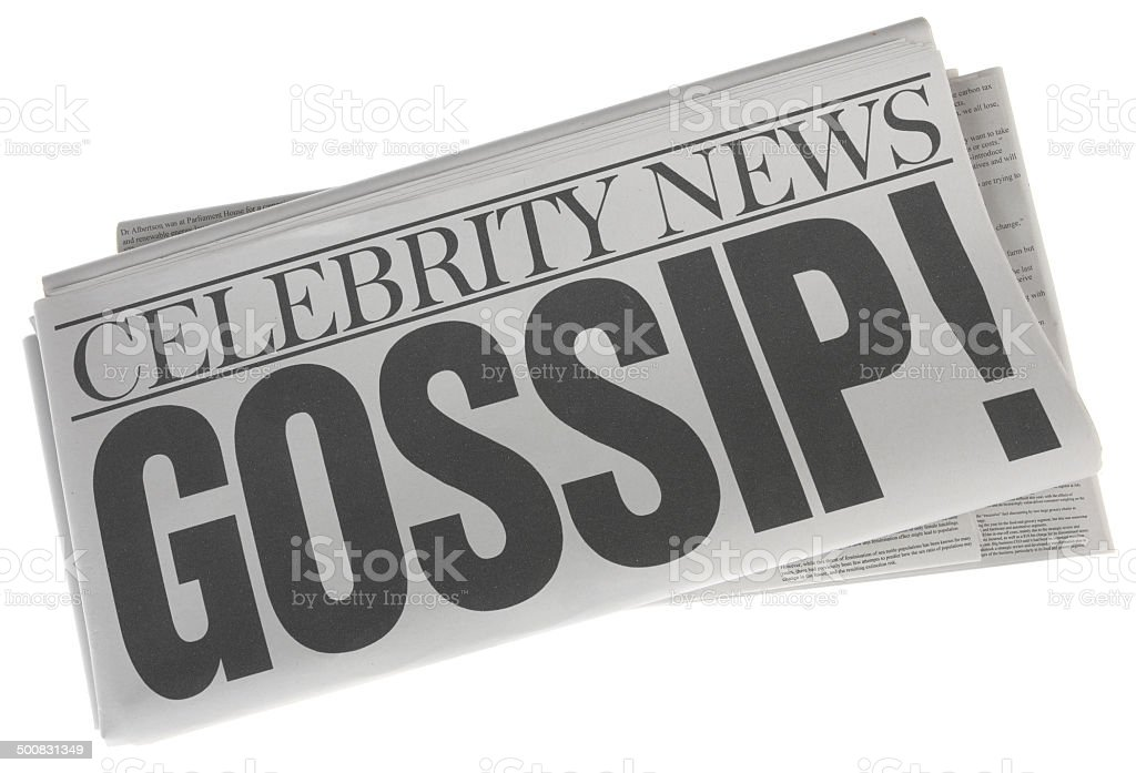 Celebrity Gossip - Stock Image of Newspaper on White stock photo