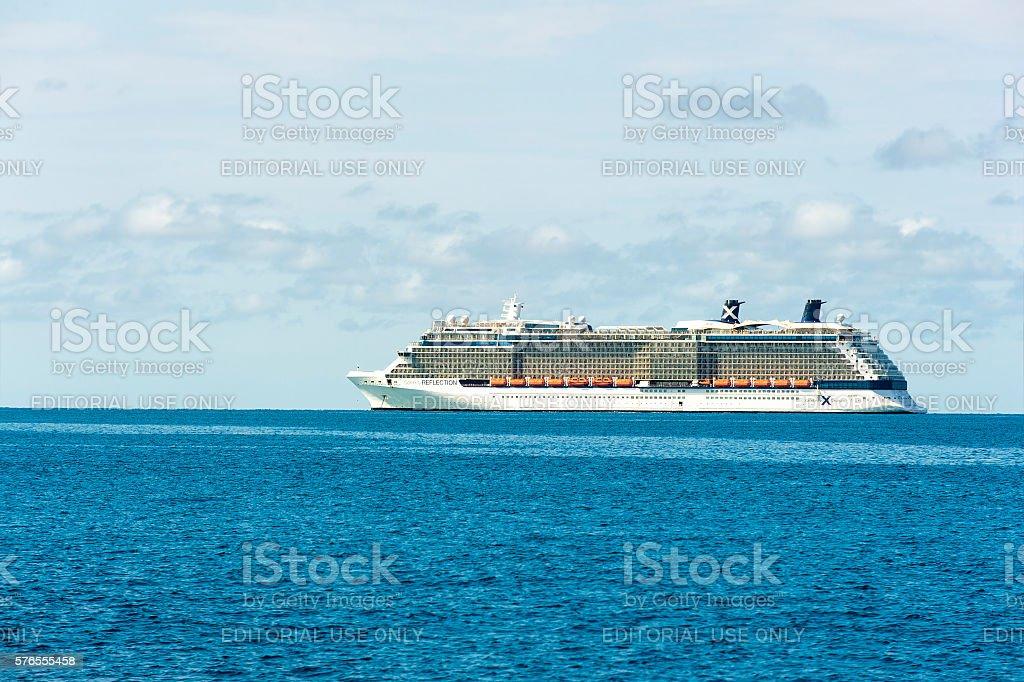 Celebrity Reflection cruise ship stock photo