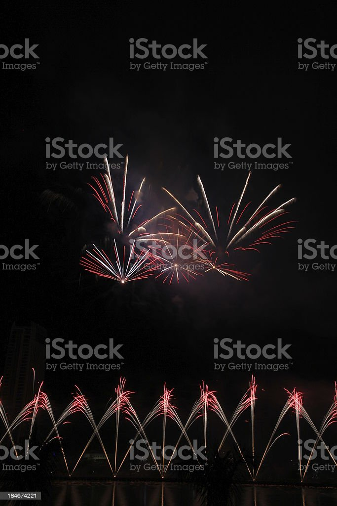 Celerating with fireworks royalty-free stock photo