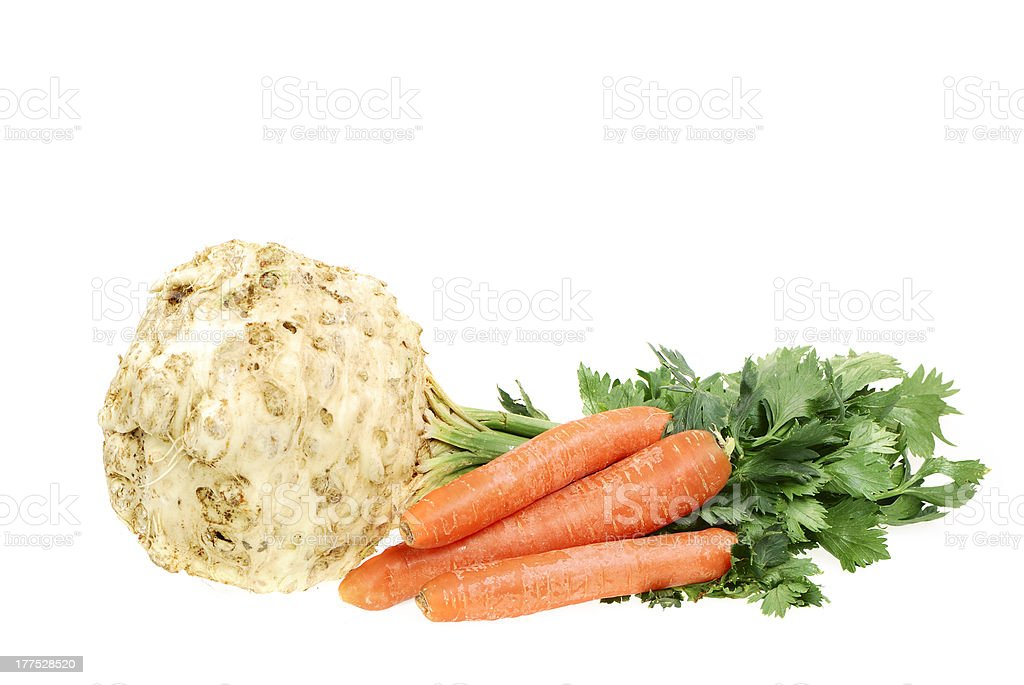Celery and Carrot royalty-free stock photo