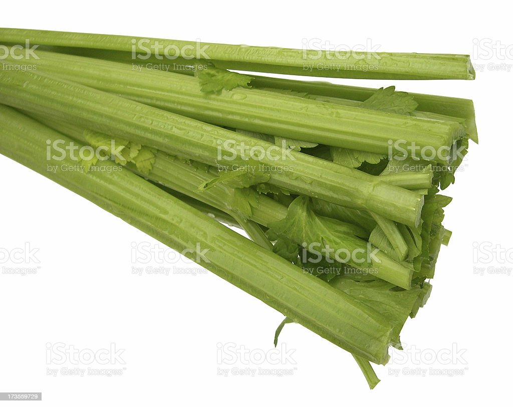 celery on a white background royalty-free stock photo