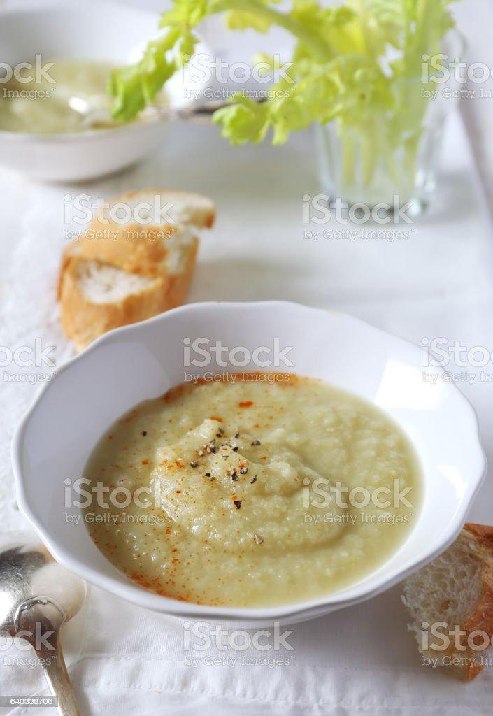 Celery soup stock photo