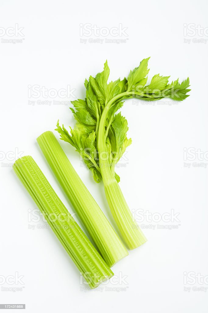 celery stalk with leaves stock photo