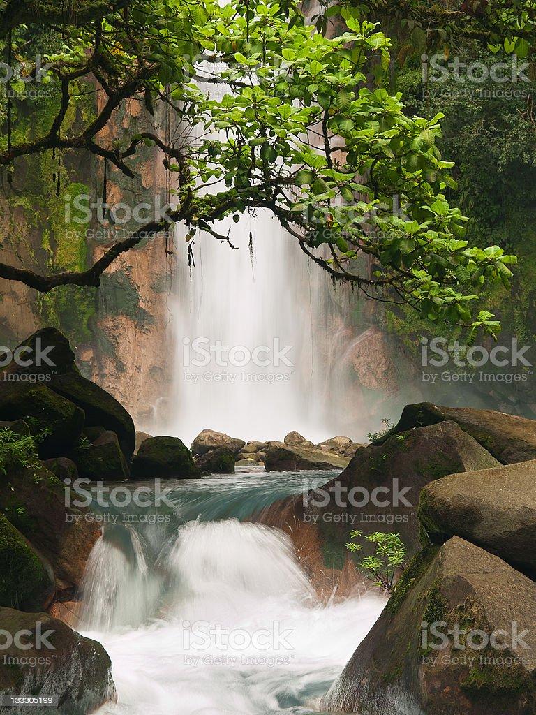 Celestial blue waterfall royalty-free stock photo