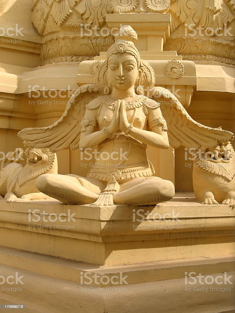 Celestial deity: Hindu Sculpture stock photo
