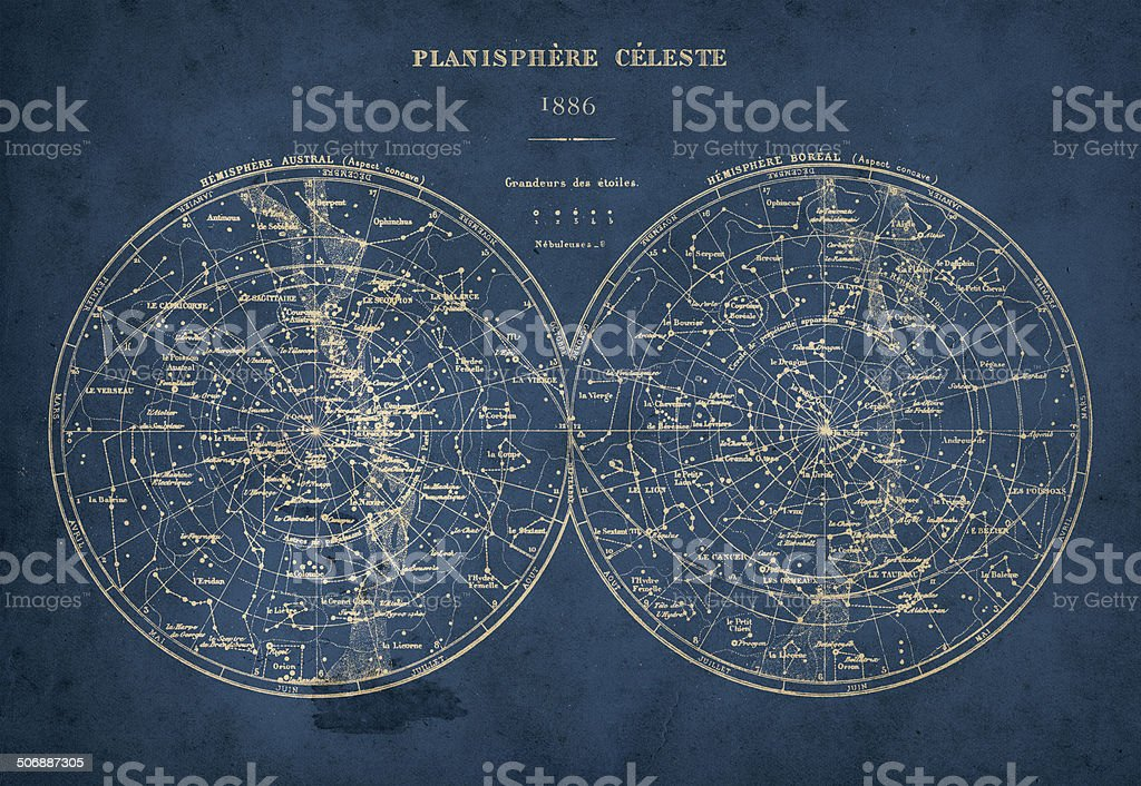 Celestial Hemispheres stock photo