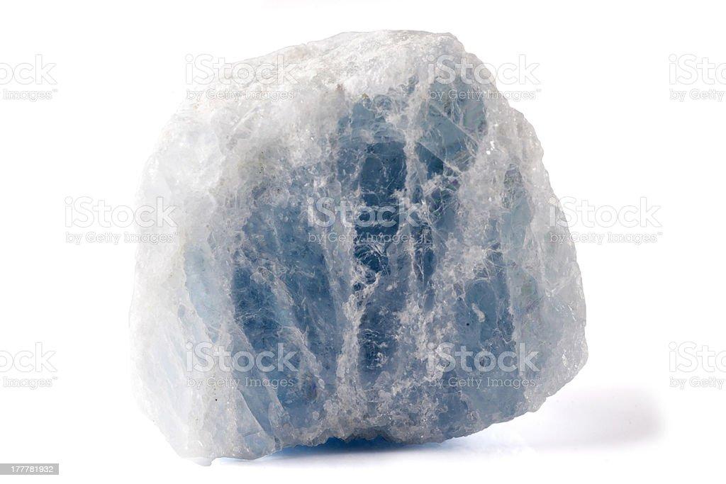 Celestite Mineral royalty-free stock photo