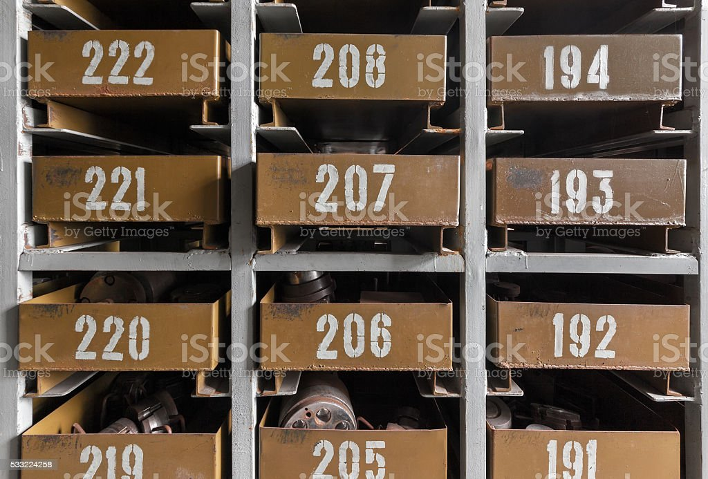 Cell automatic parts warehouse stock photo