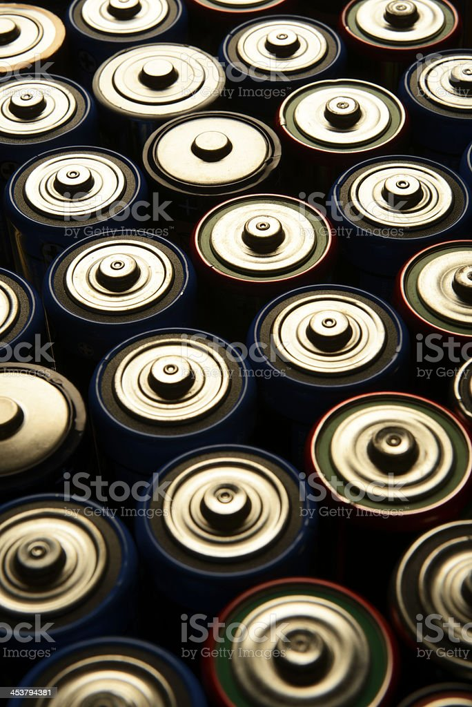D Cell Batteries royalty-free stock photo
