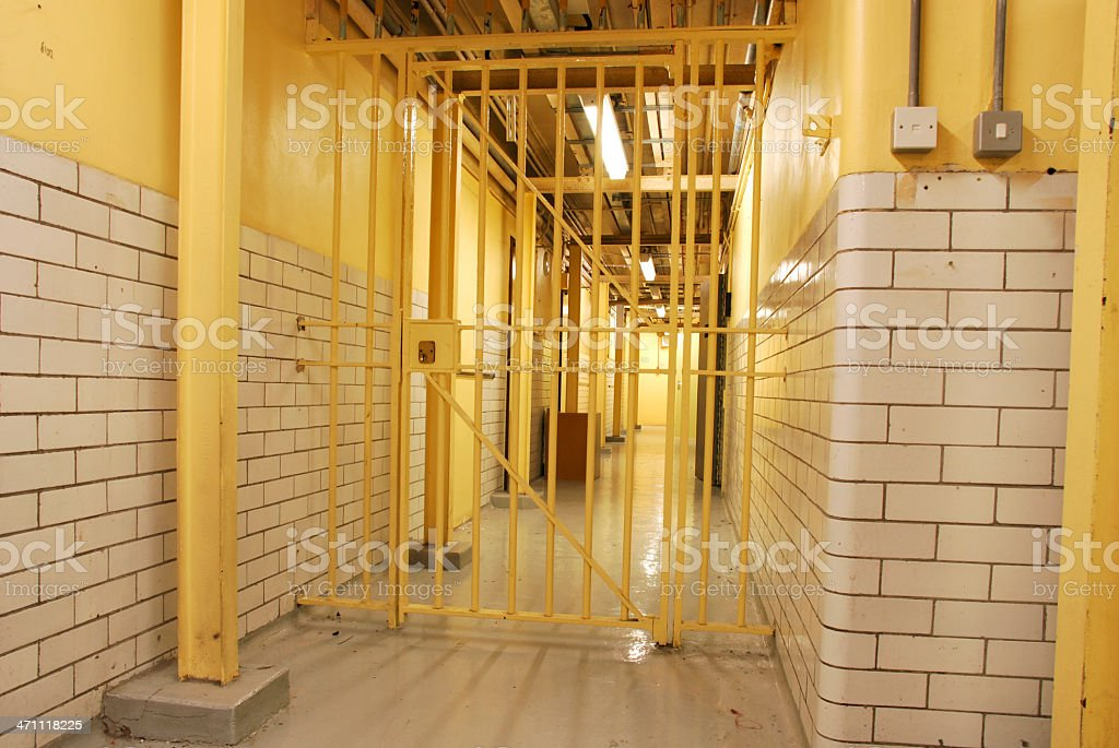 Cell block gate royalty-free stock photo