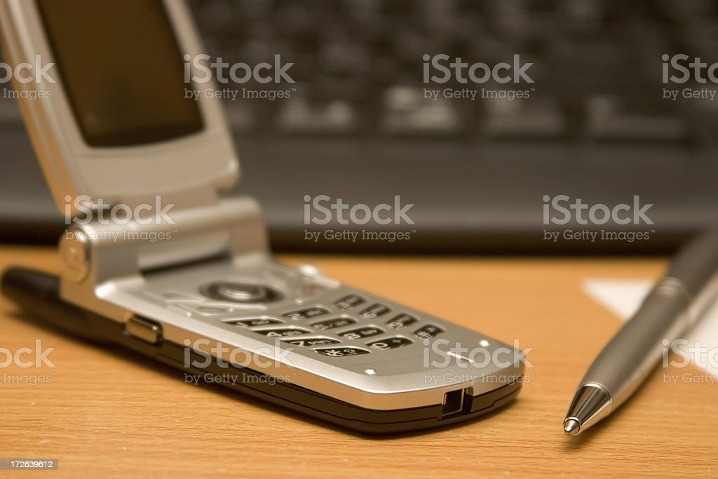 Cell Phone and Pen royalty-free stock photo