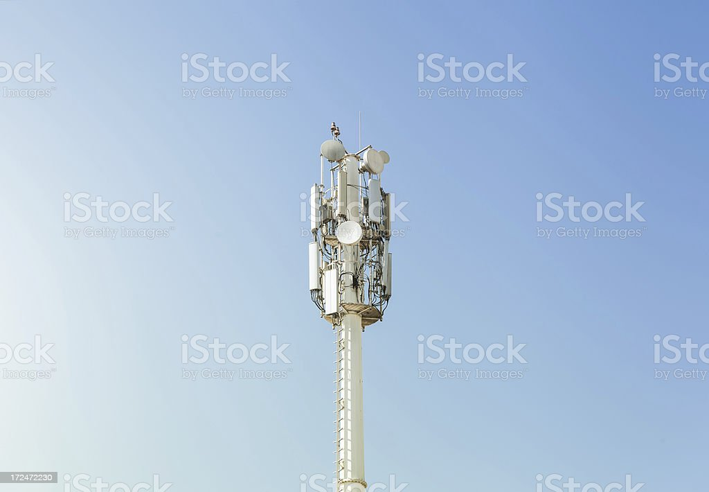 Cell Phone Antenna / Base Station (BTS) Tower stock photo